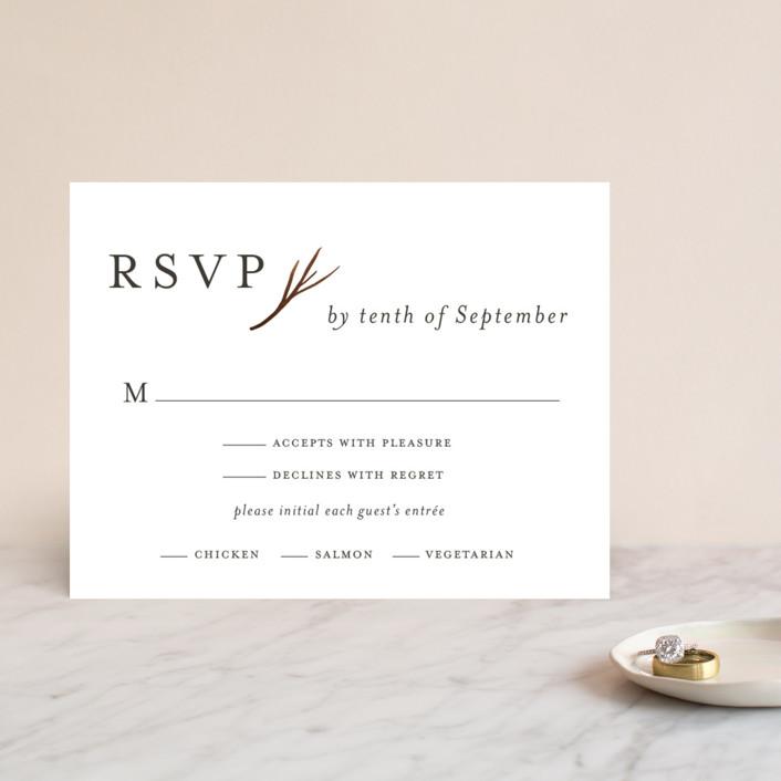 """""""antler"""" - Foil-pressed Rsvp Cards in Ivory by Robin Ott."""