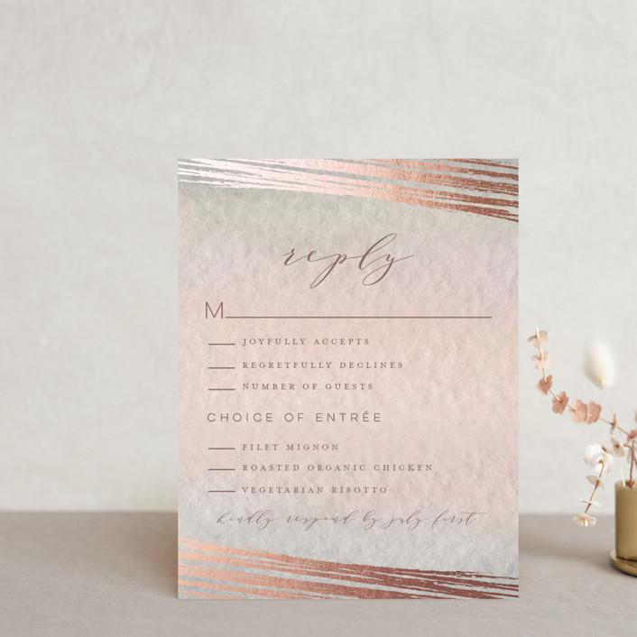 """""""Mood"""" - Foil-pressed Rsvp Cards in Coral by Grace Kreinbrink."""