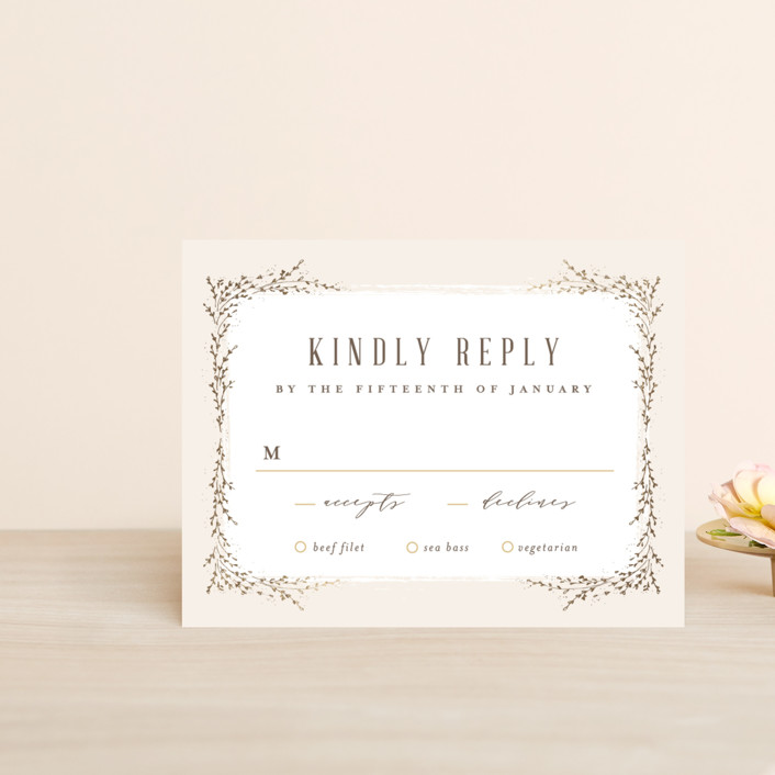 """""""positano"""" - Foil-pressed Rsvp Cards in Champagne by chocomocacino."""