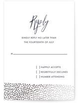 Sprinkled Love Foil-Pressed RSVP Cards