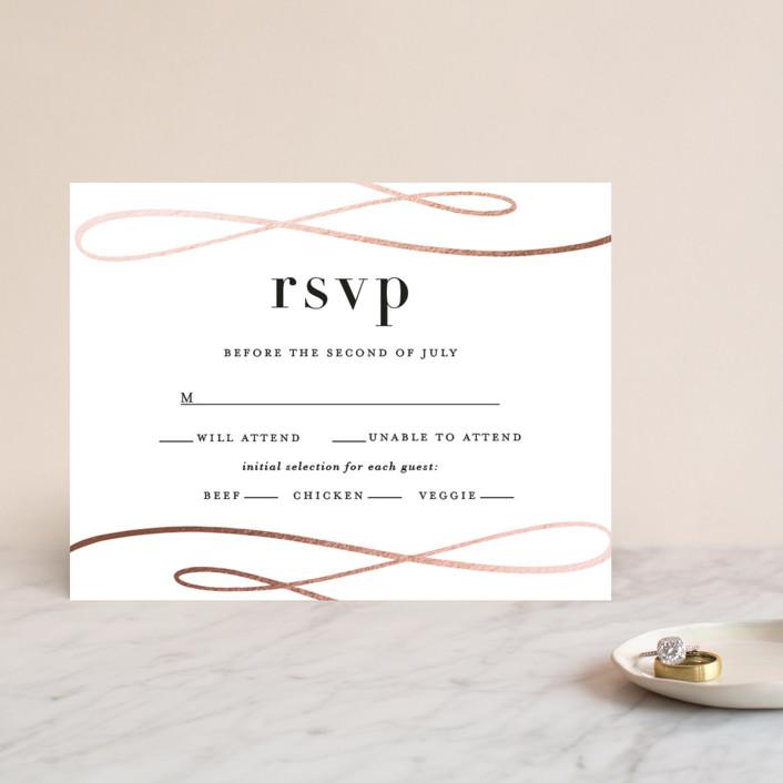 """Sophisticate"" - Foil-pressed Rsvp Cards in Rose Gold by Lauren Chism."