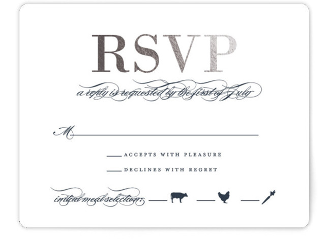 Unconditional Foil-Pressed RSVP CardsP Cards