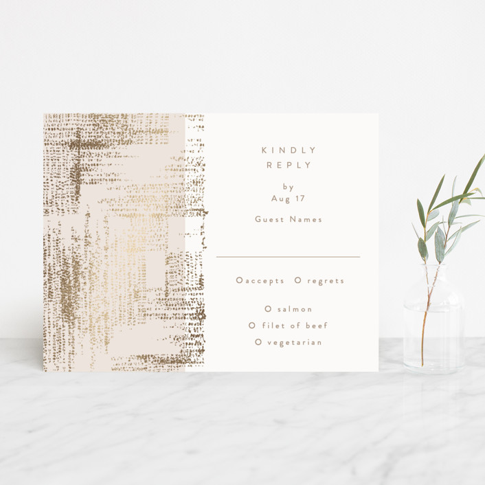 """stippels"" - Modern Foil-pressed Rsvp Cards in Blush by Phrosne Ras."
