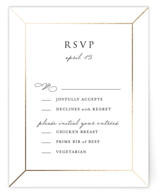 This is a white rsvp card by Julia Hall called Wonderland with foil-pressed printing on signature in standard.