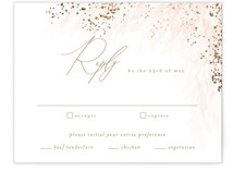 This is a pink rsvp card by Kristie Kern called Opus with foil-pressed printing on signature in standard.