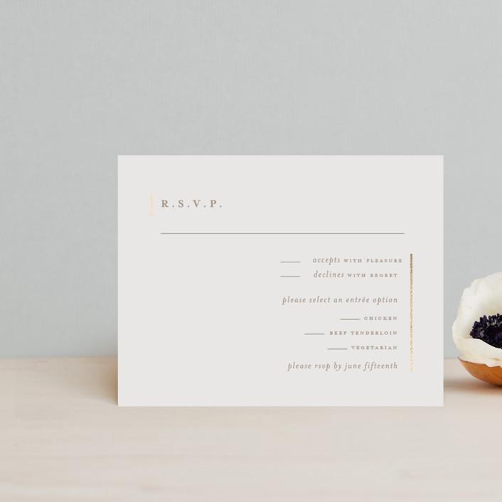 """Lydra"" - Modern Foil-pressed Rsvp Cards in Magnolia by elena diaz."