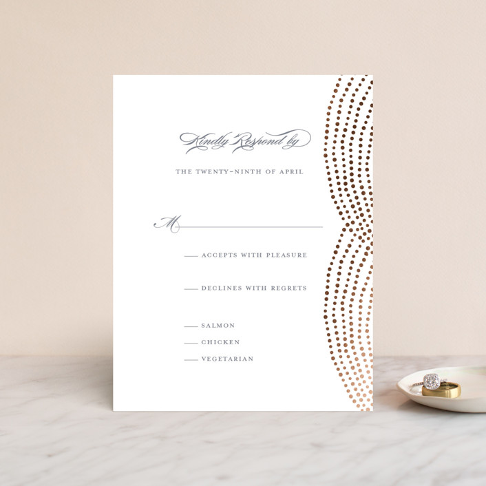 """Bespeckle"" - Foil-pressed Rsvp Cards in Sky by Benita Crandall."