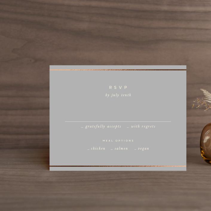 """lili"" - Modern Foil-pressed Rsvp Cards in Ash by Lori Wemple."
