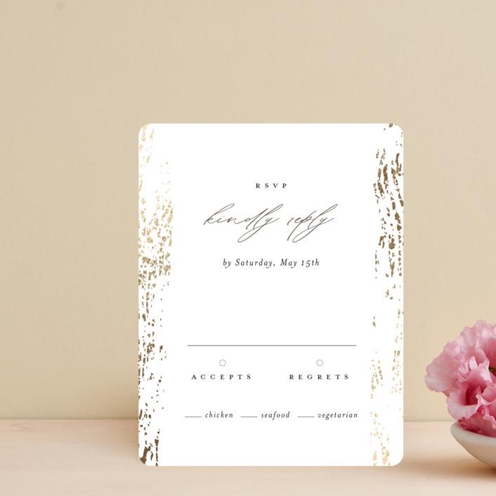"""Rustic Dream"" - Foil-pressed Rsvp Cards in Quartz by Beth Murphy."