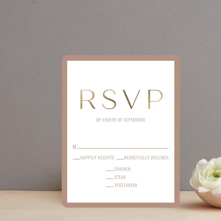 """Eternal Love"" - Foil-pressed Rsvp Cards in Rose Dust by Brittany Braithwaite."