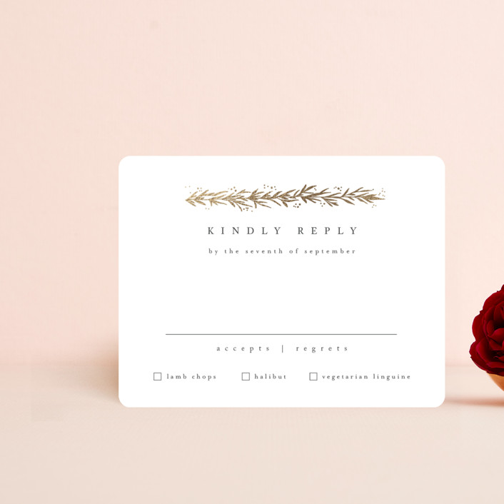 """""""kawaguchi"""" - Foil-pressed Rsvp Cards in Moonstone by chocomocacino."""
