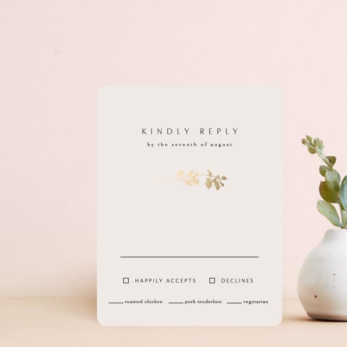 """""""Mist"""" - Foil-pressed Rsvp Cards in Ivory by Kelly Schmidt."""
