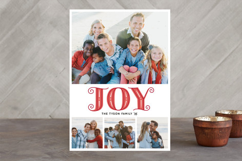 Pretty Joyful Holiday Photo Cards