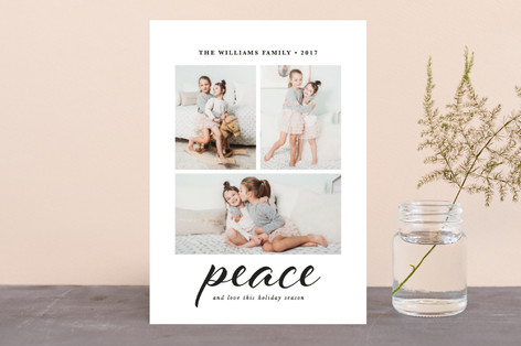 Peace And Love This Holiday Season Holiday Photo Cards