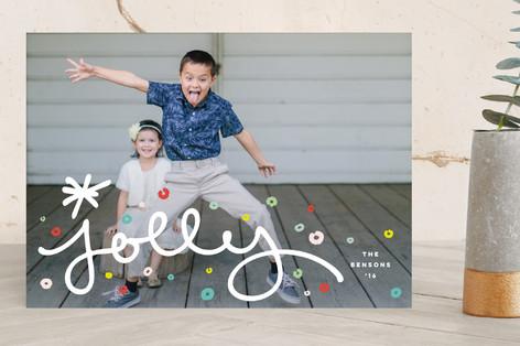 Jolly Confetti Holiday Photo Cards