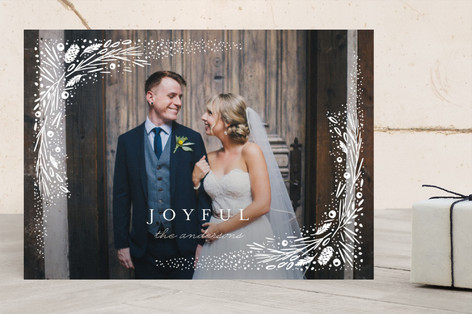 Delicate Winter Frame Holiday Photo Cards