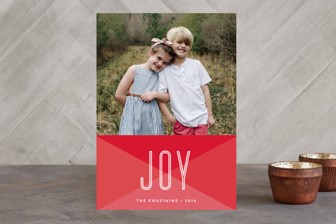 Geometric Joy Holiday Photo Cards