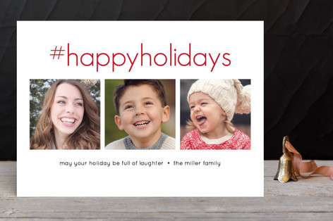 Hashtag Laughter Holiday Photo Cards