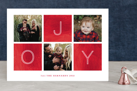 Painted Canvas Holiday Photo Cards