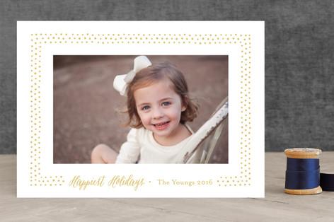 Hobnail Dots Holiday Photo Cards