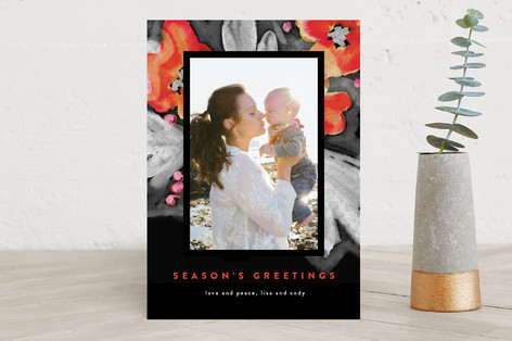 Frosty Flowers Holiday Photo Cards