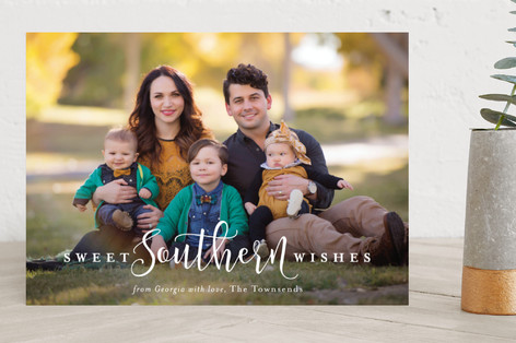Southern Charm Holiday Photo Cards