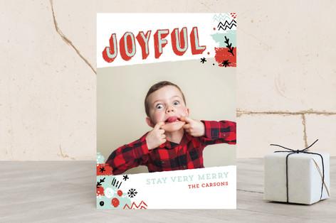 Cheery Art Holiday Photo Cards