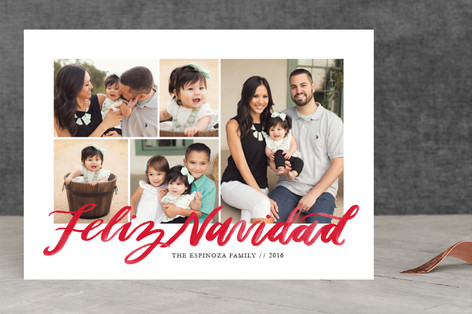 Lettered Feliz Navidad Holiday Photo Cards