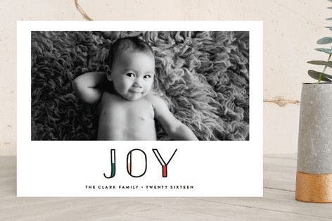 Modern Merry Holiday Photo Cards
