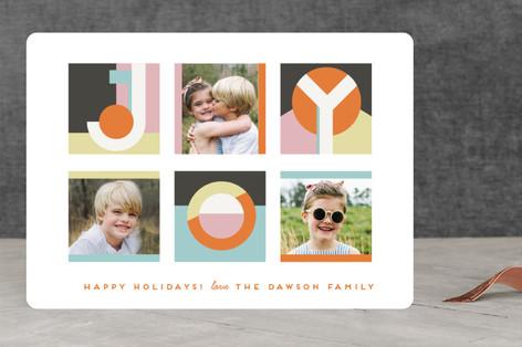 Geo Joy Holiday Photo Cards