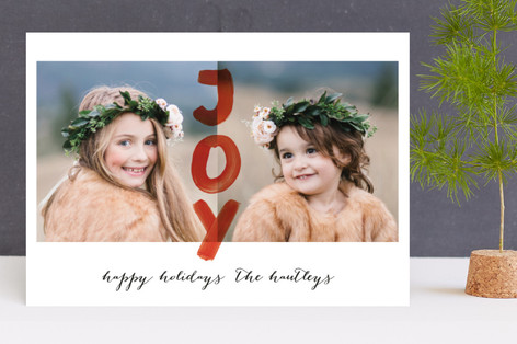 Happy Joy Holiday Photo Cards