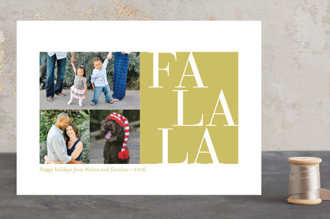 Elegant FaLaLa Holiday Photo Cards