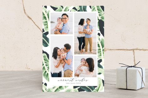 Tropical Wishes Holiday Photo Cards