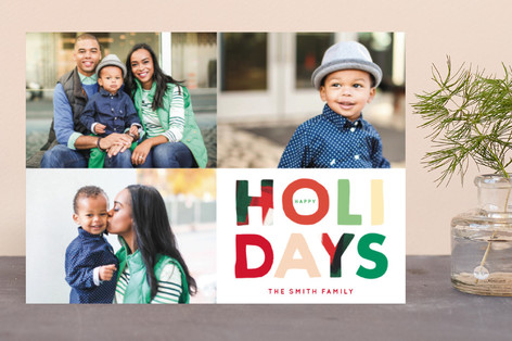 Colorful Holidays Holiday Photo Cards
