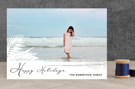 Beach Holidays Holiday Photo Cards