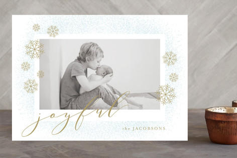 Gentle Powder Holiday Photo Cards