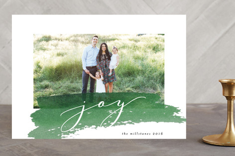 Simple Swash Holiday Photo Cards