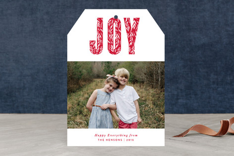 Gilded Peace Holiday Photo Cards