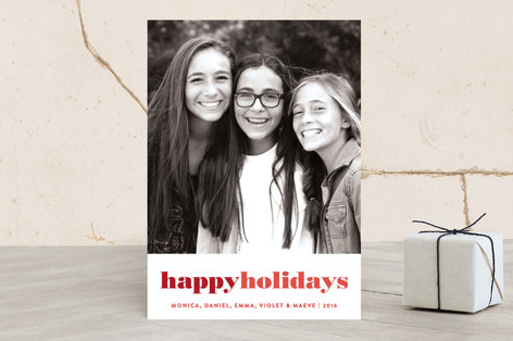Modern Holiday Holiday Photo Cards