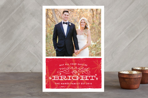 Bright & Married Holiday Photo Cards