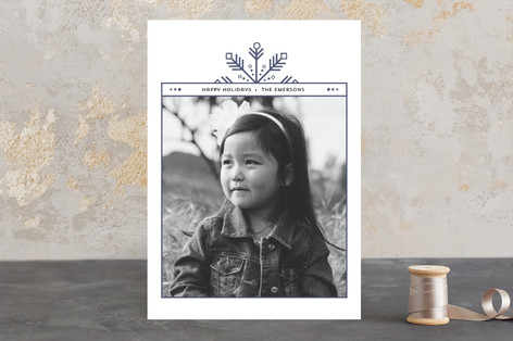 foiled edge Holiday Photo Cards
