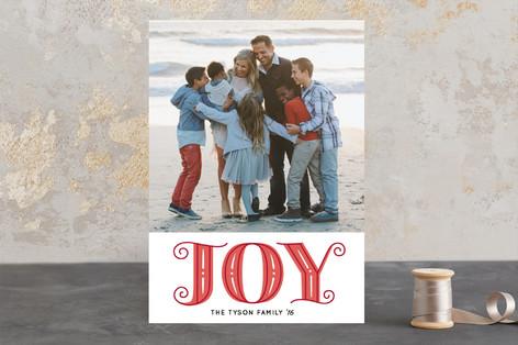 Pretty Joyful Holiday Photo Cards