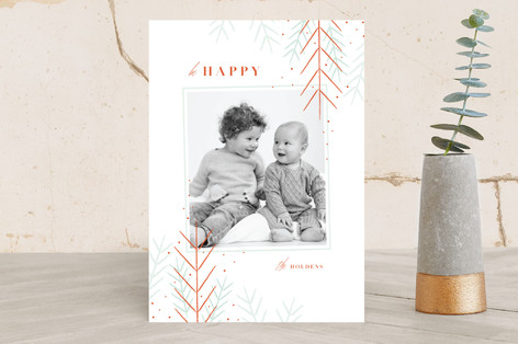 gilded evergreen Holiday Photo Cards