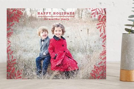 Snowy Wreath Holiday Photo Cards