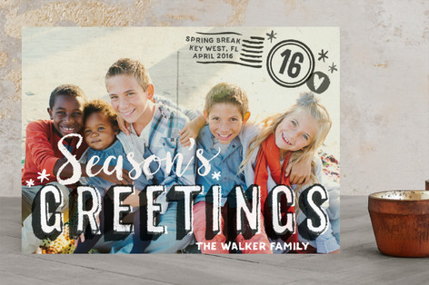 Vintage Postcard Holiday Photo Cards