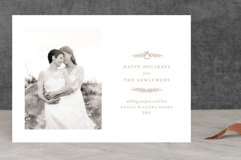 Wedding Bells to Jingle Bells Holiday Photo Cards