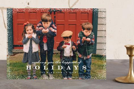 Light Snowfall Holiday Photo Cards