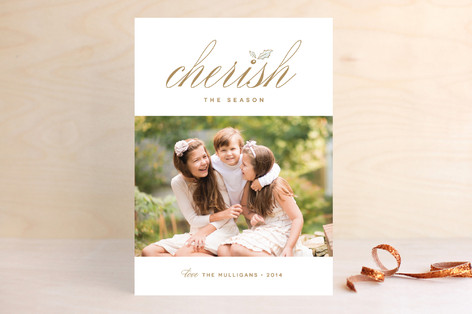 Cherish Holiday Photo Cards