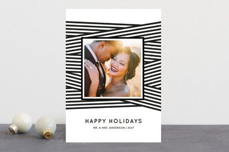 Ribbon Wrapped Holiday Photo Cards