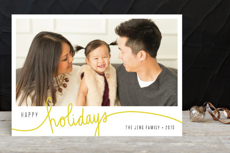 Mellow Yellow Holiday Photo Cards